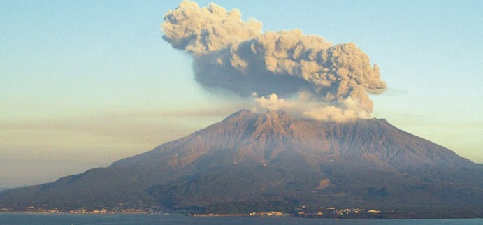 volcan  Sakurajima jpon
