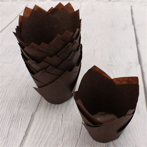 Pack Of 50 Chocolate Tulip Muffin Wraps