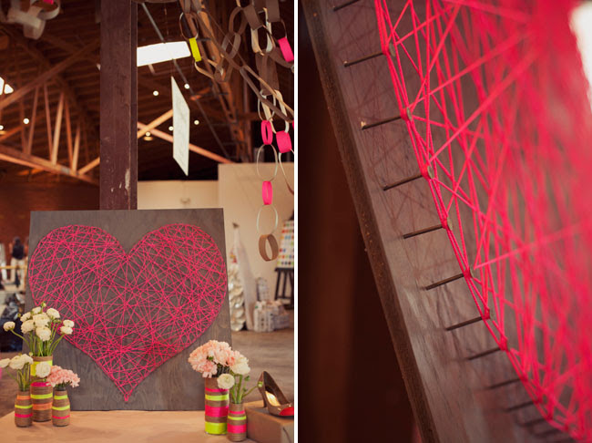 DIY string heart art