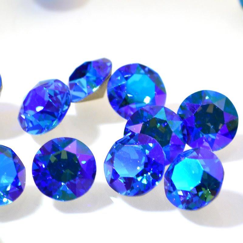 s46621 Swarovski - Rhinestones - SS 39 Xirius Chaton (Article 1088) - Sapphire Glacier Blue (1)