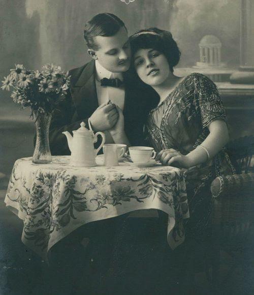 Tea and Love ~ 1910s German Postcard