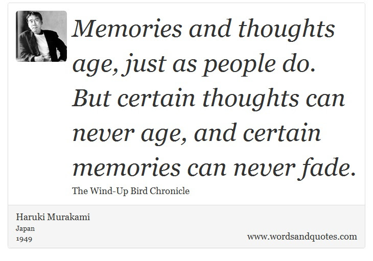 On Memory Memories And Thoughts Age Just As People Do B