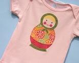 Matryoshka Russian Doll Tee Shirt Size 18-24 month