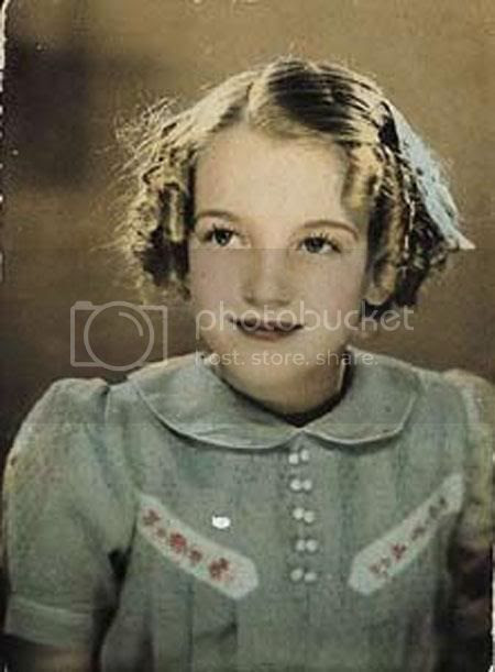 Marilyn Monroe Norma Jean as a little girl full color