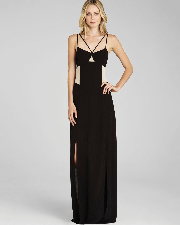 Consignment macy's High Waist Stripe Print Short Sleeve Navy Maxi Dress tobi