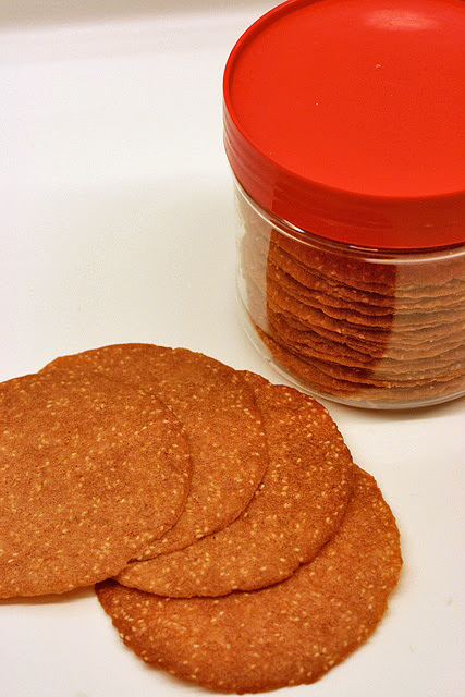 Crispy kai zai peng thin cookies!