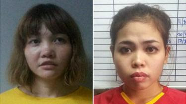 Composite photo of Doan Thi Huong and Siti Aisyah