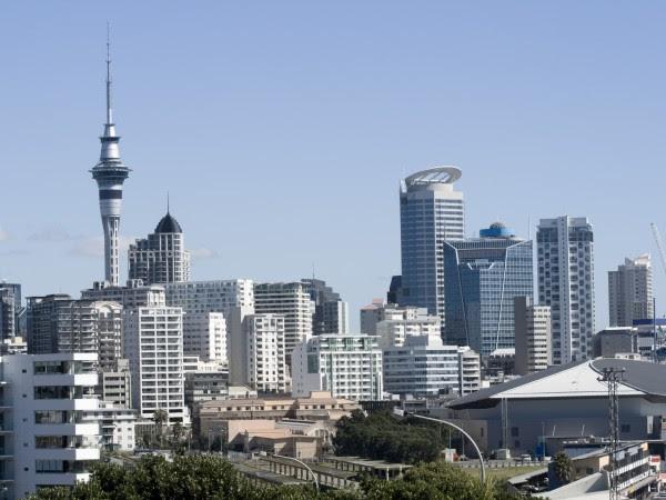 Die moderne Architektur in Auckland Neuseeland Bilder