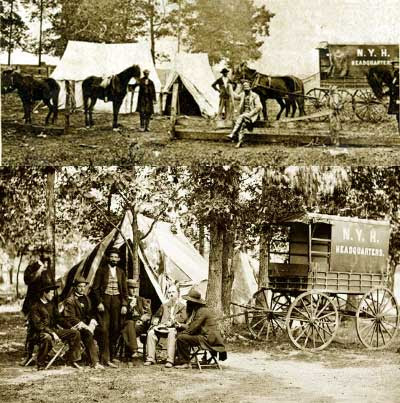 New York Herald- Headquarters in the Field- 1863