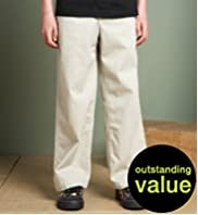 Plus Fit Pure Cotton Straight Leg Chino Trousers