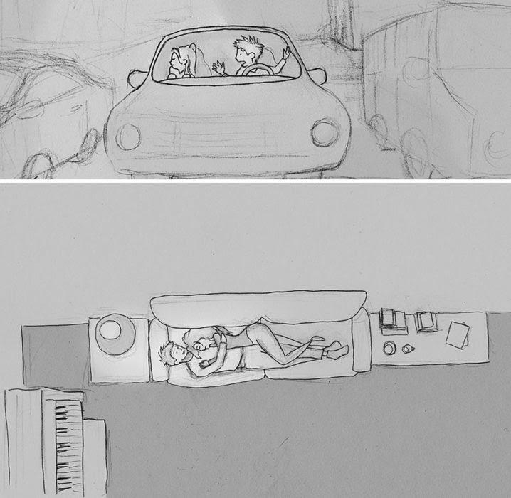 enamorado de su esposa, creó 1 dibujo por dia por un año