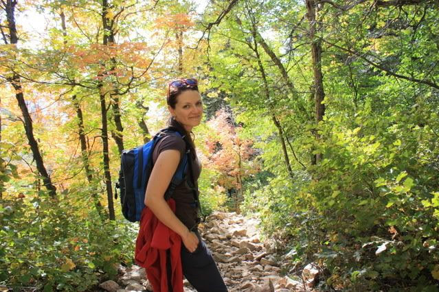 Michelle at Mt. Olympus, Sept. 2011