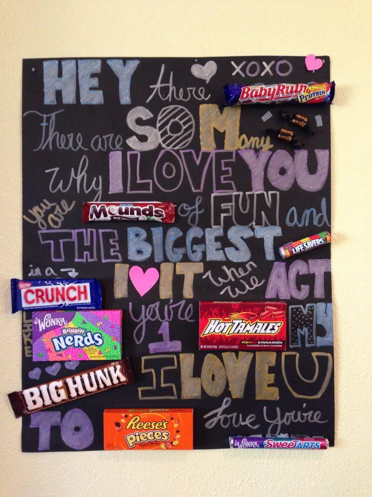 Candy card for boyfriends birthday :))