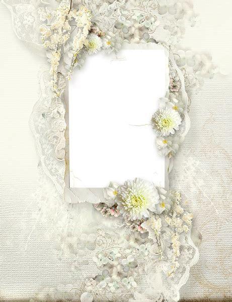 Transparent Delicate Cream Wedding Frame   Clip ART