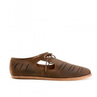 """""""Virginia"""" Renaissance Shoes (Brown)(1580-1630)"""