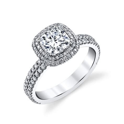 CZ Engagement Ring 00052   High end cubic zirconia