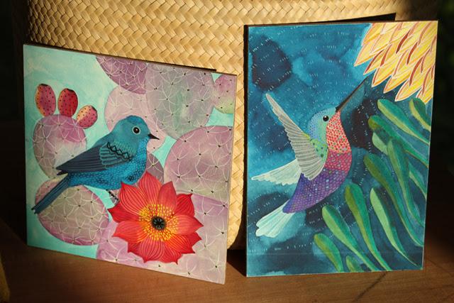 Birds on aquabord