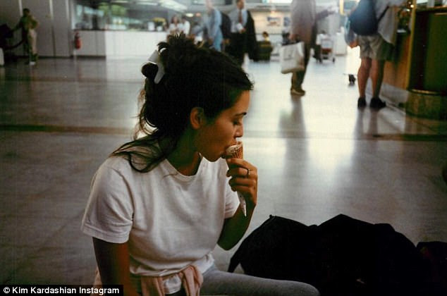 'Bruh you look the same!' On Tuesday Kim Kardashian, 36, treated her fans to a throwback snap, uploading a memory from her teenage years- but fans mistook it for a current picture