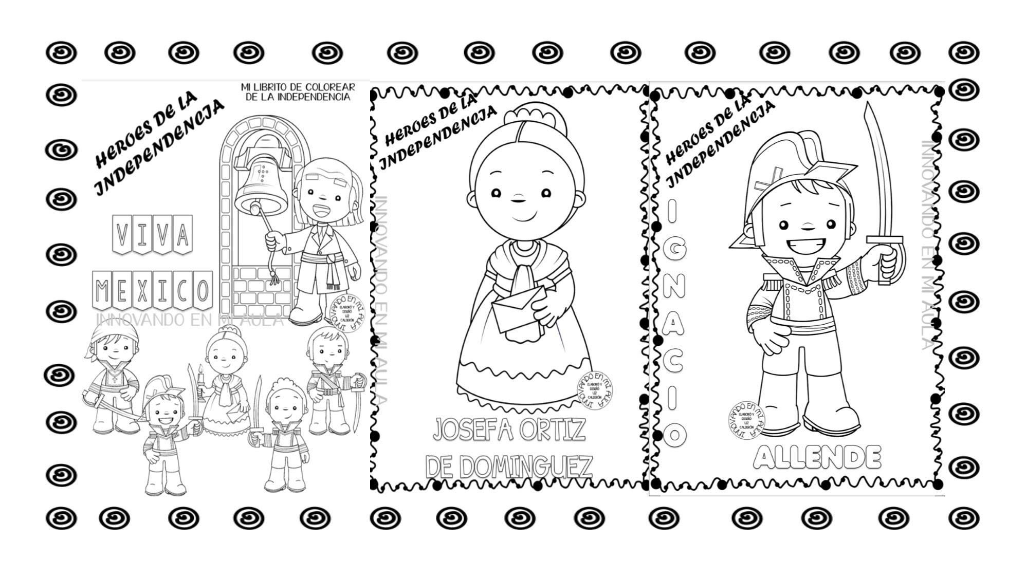 Dibujos Para Colorear Personajes De La Independencia De Viewinviteco