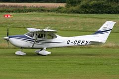 G-CEFV - 2005 build Cessna 182T Skylane, departing from Runway 27R at Barton