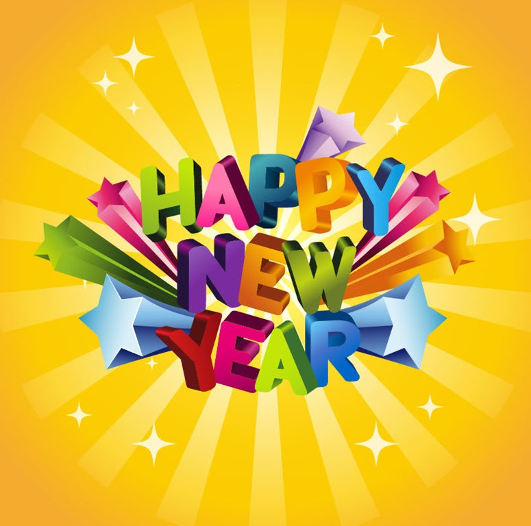 Happy New Year 3D Vector Illustration | Free Vector Graphics | All ...