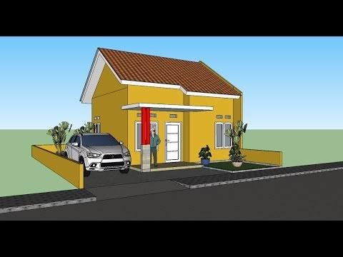 jendela informasi: membuat gambar 3d rumah sederhana