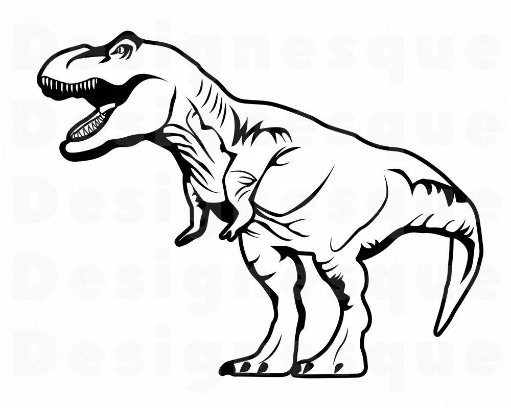 dinosaurier ausmalbilder tyrannosaurus rex - malvorlagen
