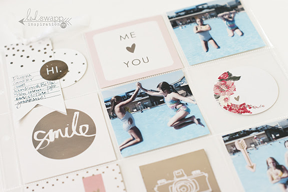 The Minc.™ mini is the perfect accessory for Project Life® spreads...it's smaller size is just right for foiling the cards and embellishments used in pocket page spreads | @MaggieWMassey for @HeidiSwapp