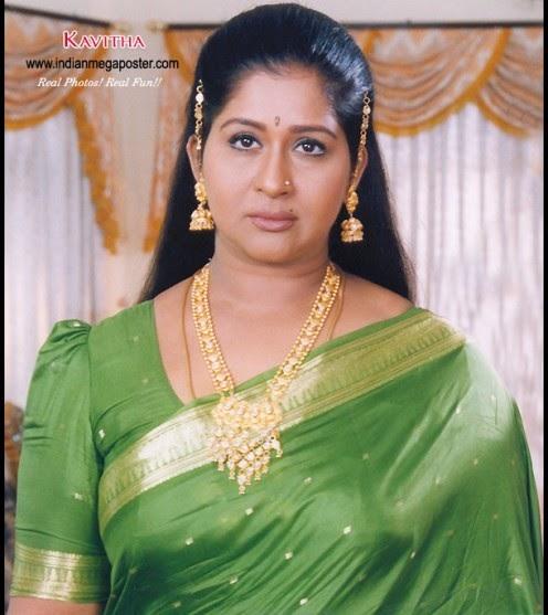 Kavitha Sexy Tamil TV Serial Aunty