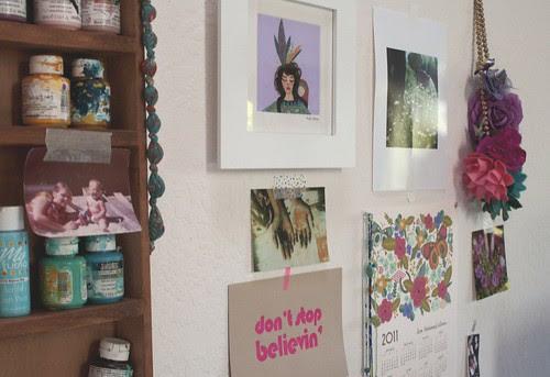 my studio wall