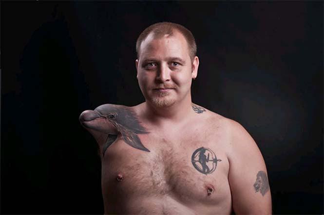 Δημιουργικά τατουάζ που αλληλεπιδρούν με το σώμα! (26)
