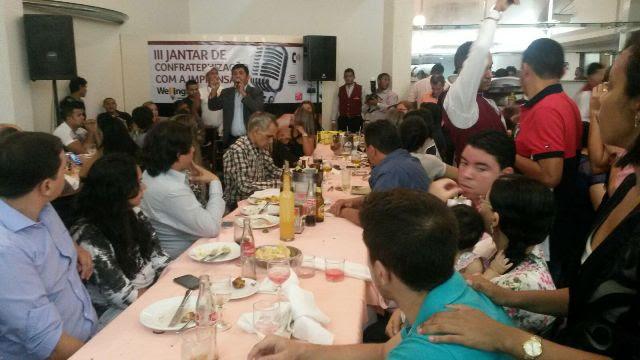 Dezenas de comunicadores atenderam ao convite, comprovando mais uma vez o prestígio do deputado