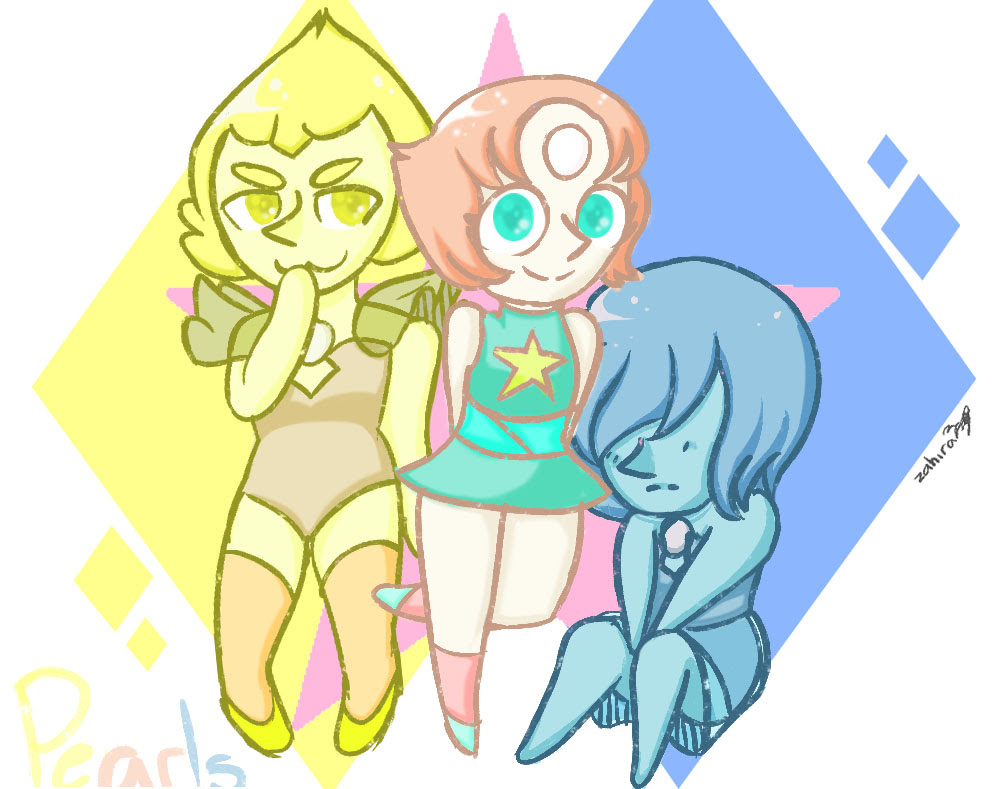 I really like the pearls <3 <3 <3 they are pretty and kawaii *W*