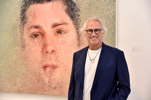 """Eric Fischl at the opening reception for """"Water