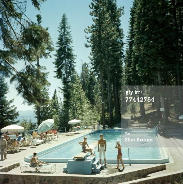 Bathers by a pool in Lake Tahoe slim Aaron's ( Getty images)