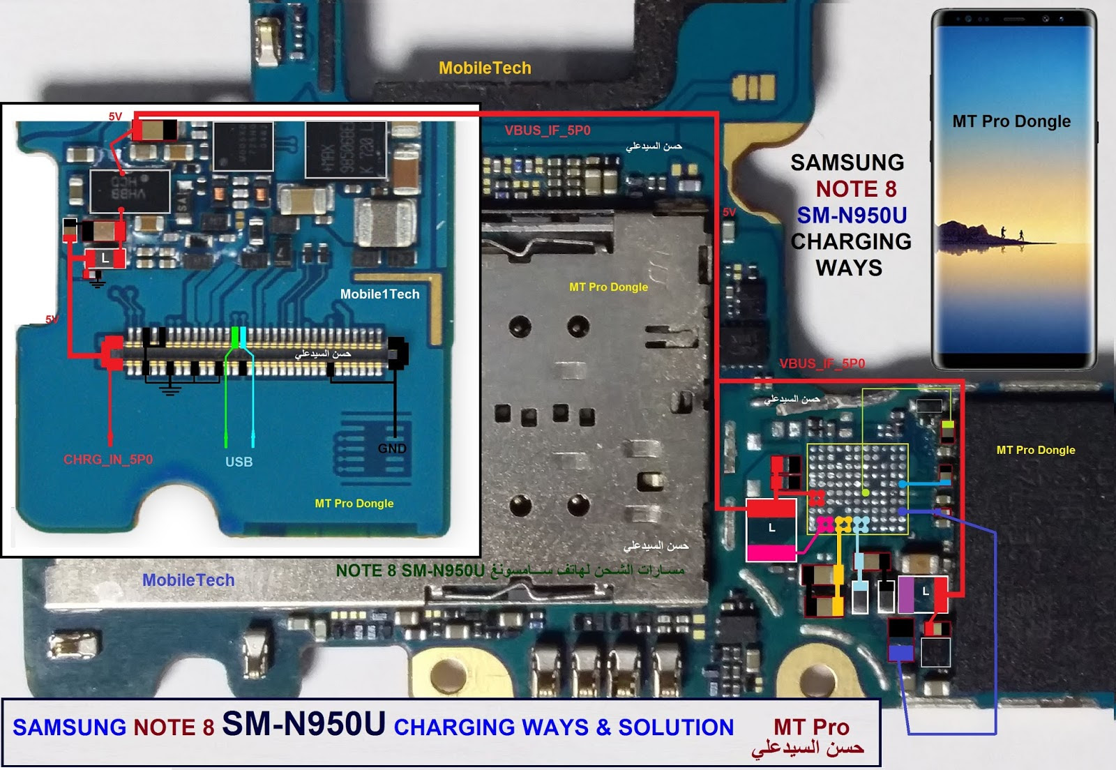 Samsung Galaxy Note 8 N950U Charging Solution Jumper Problem Ways