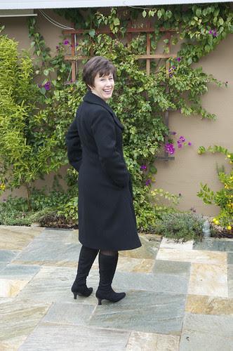 Coat outside back