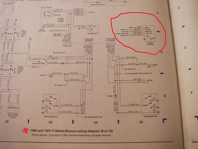 1991 Ford f-150 radio wiring diagram free