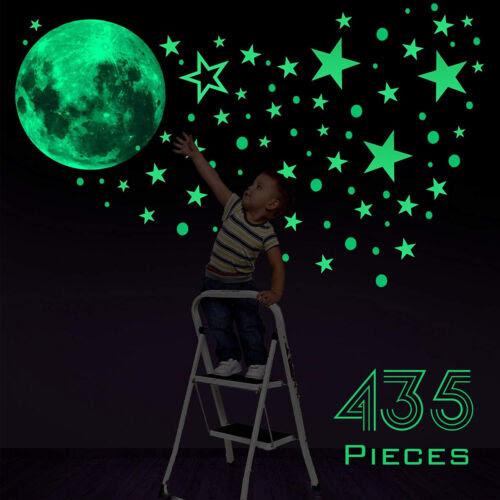 Wandtattoo Nachtleuchtend Sterne Mond Sternenhimmel Wandaufkleber Kinderzimmer