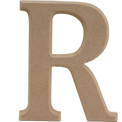 Wooden Letter R 27Cm   Hobbycraft