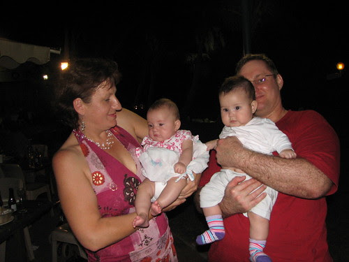 Barb with Chloe, Anthony with Emma