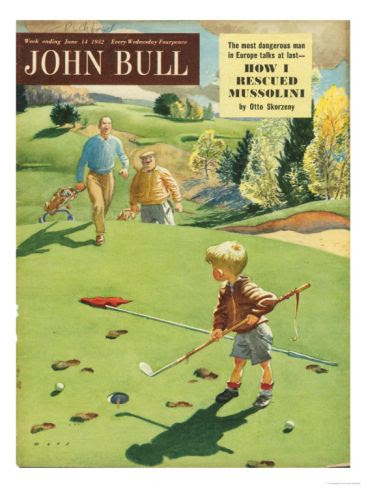 John Bull, Golf Magazine, UK, 1950 Print at Art.com