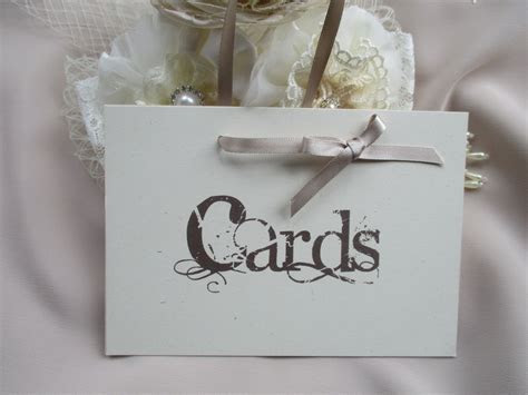 Handmade Wedding Cards Sign Vintage Style with Ribbon Hanger