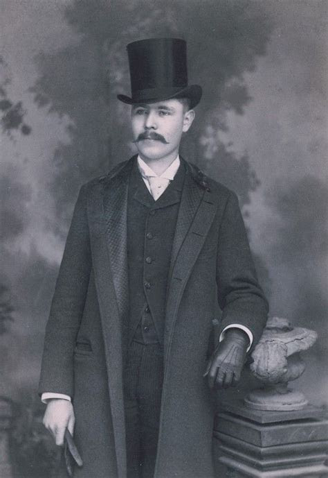 Fashionable Handsome Gentleman in Top Hat Cabinet Card