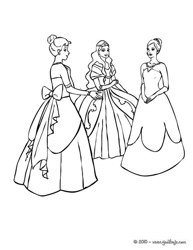 Dibujos Para Colorear Vestidos De Princesas Es Hellokids Com