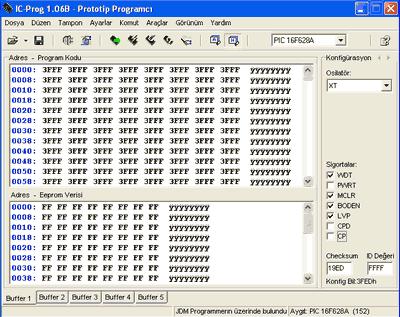 Sử dụng thiết lập IC-Prog cho lập trình viên