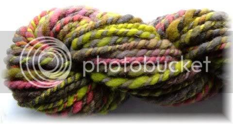 Hand dyed rambouillet roving handspun sample