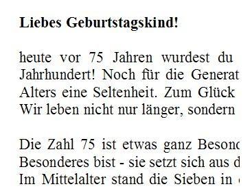 Sprüche Zum 75 Geburtstag Oma Nette Geburtstagssprüche