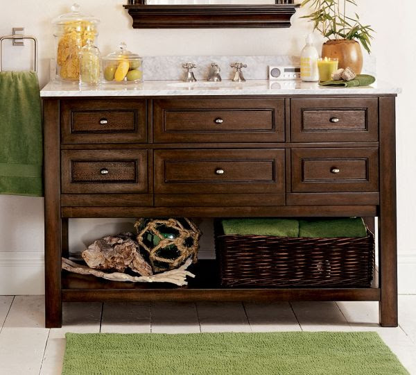 Double and Single Classic Bathroom Sink Console