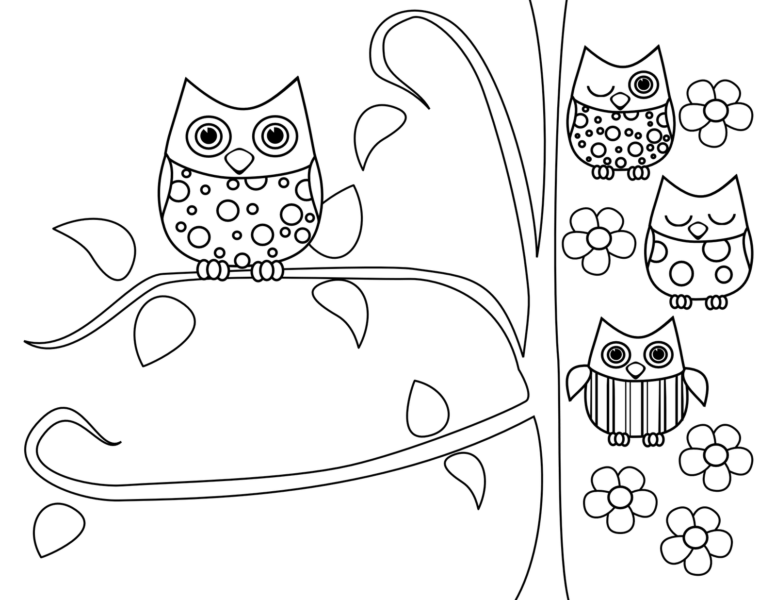 50 Coloring Pages For Adults Owls  Images